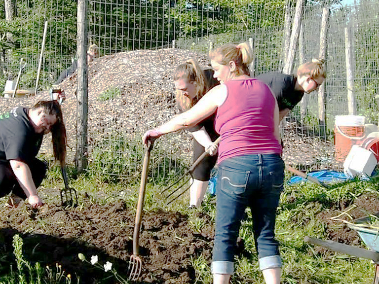 United Way volunteers really dig our garden!