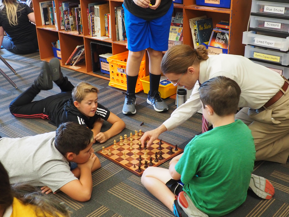 6th-graders sharpen their math minds learning chess strategy.