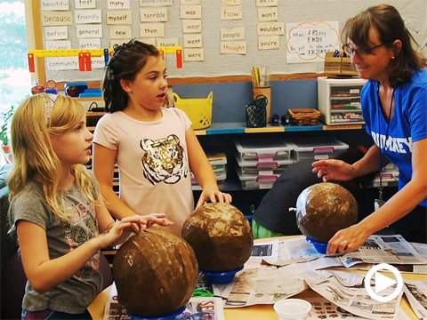 The whole world in their hands: making paper-mache globes